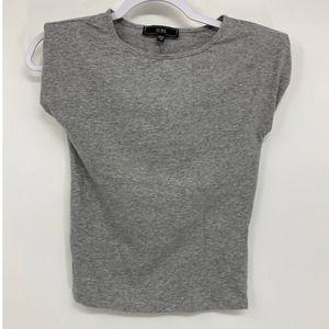 Vibe Sportswear Gray Sleeveless Shirt Top - NEW